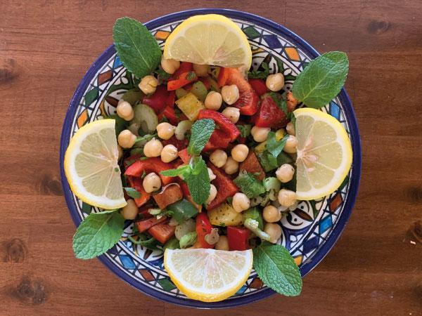 Kischererbsen Salat
